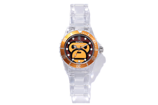 Bape Milo Clear Bapex Watch